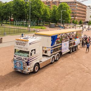 Studentflak på Heden i Göteborg